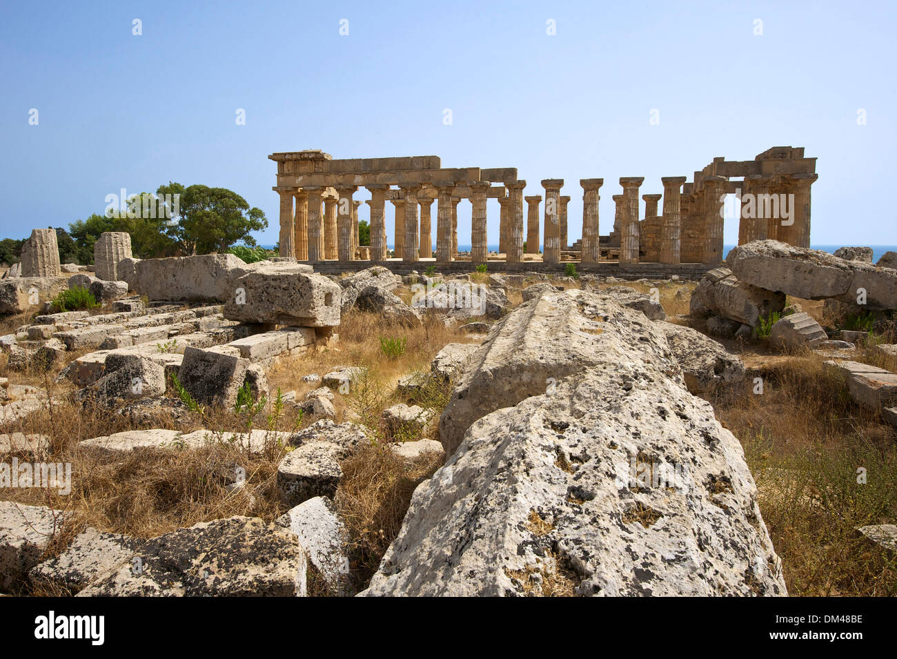 Sicily Italy South Italy Europe island temple of Hera Selinunt temple architecture building construction history historical - Stock Image
