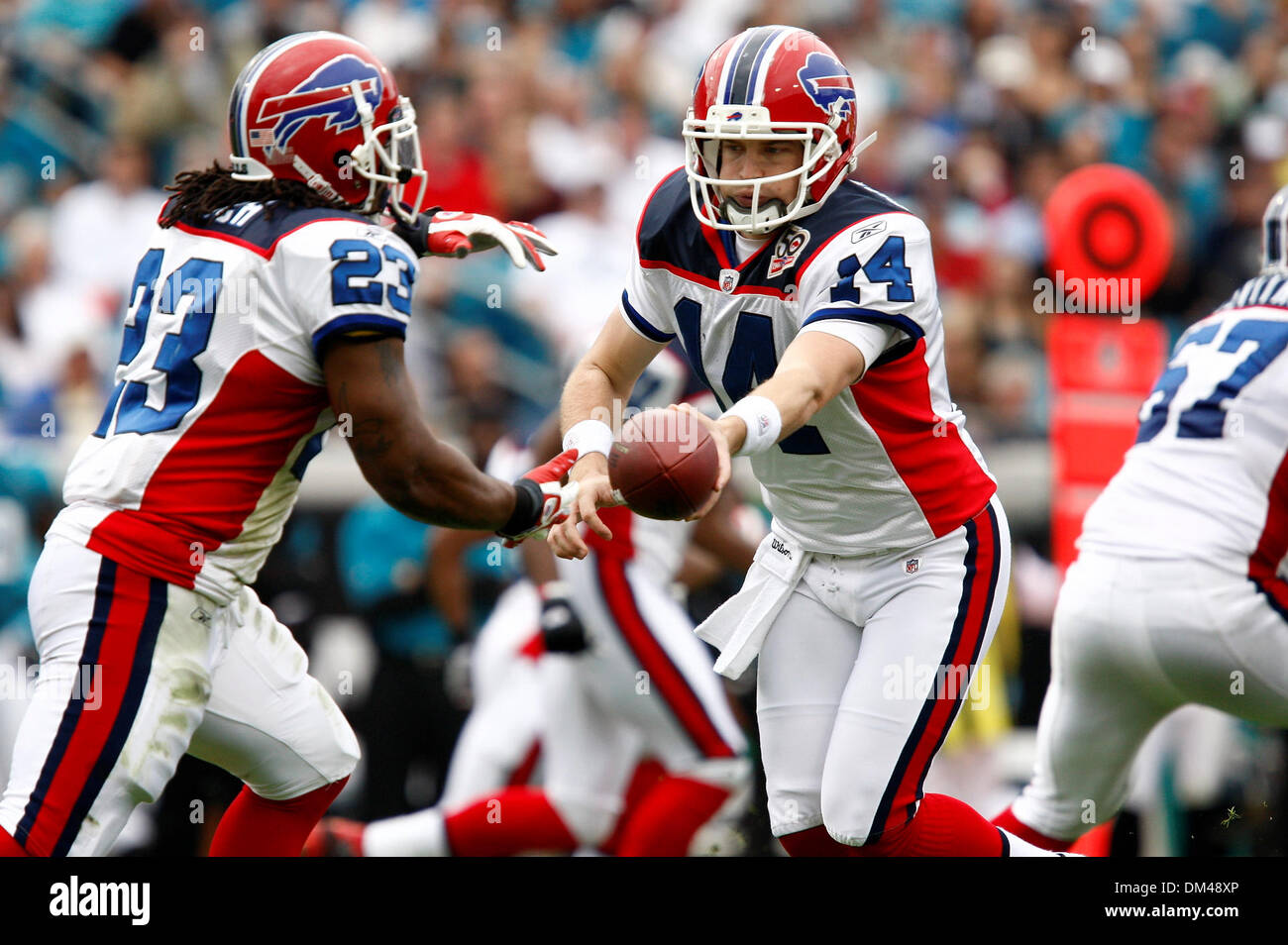 best website 9a5f8 c36f3 Buffalo Bills Ryan Fitzpatrick (14) hands off to Marshawn ...
