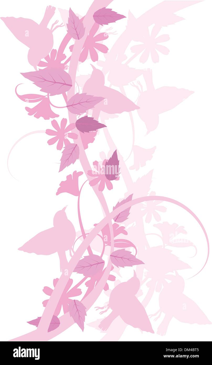ccec77b54 birds and floral background Stock Vector Art & Illustration, Vector ...