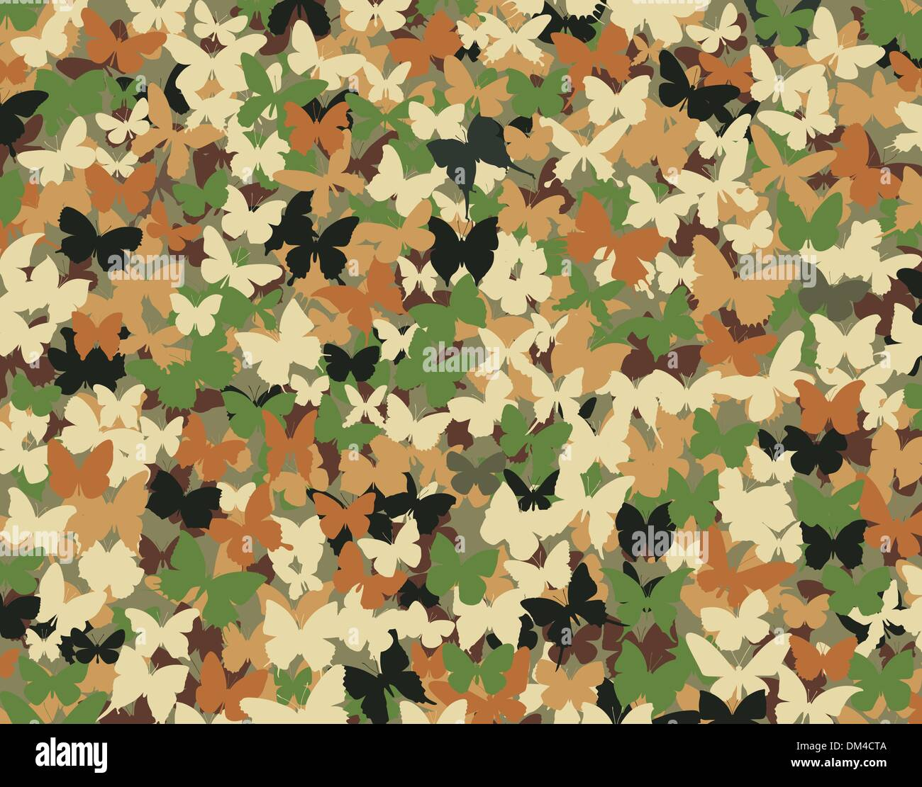 Butterfly camouflage - Stock Vector