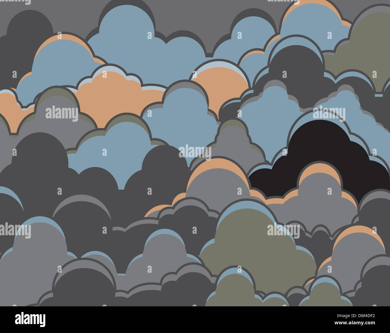 Cloudy background - Stock Vector