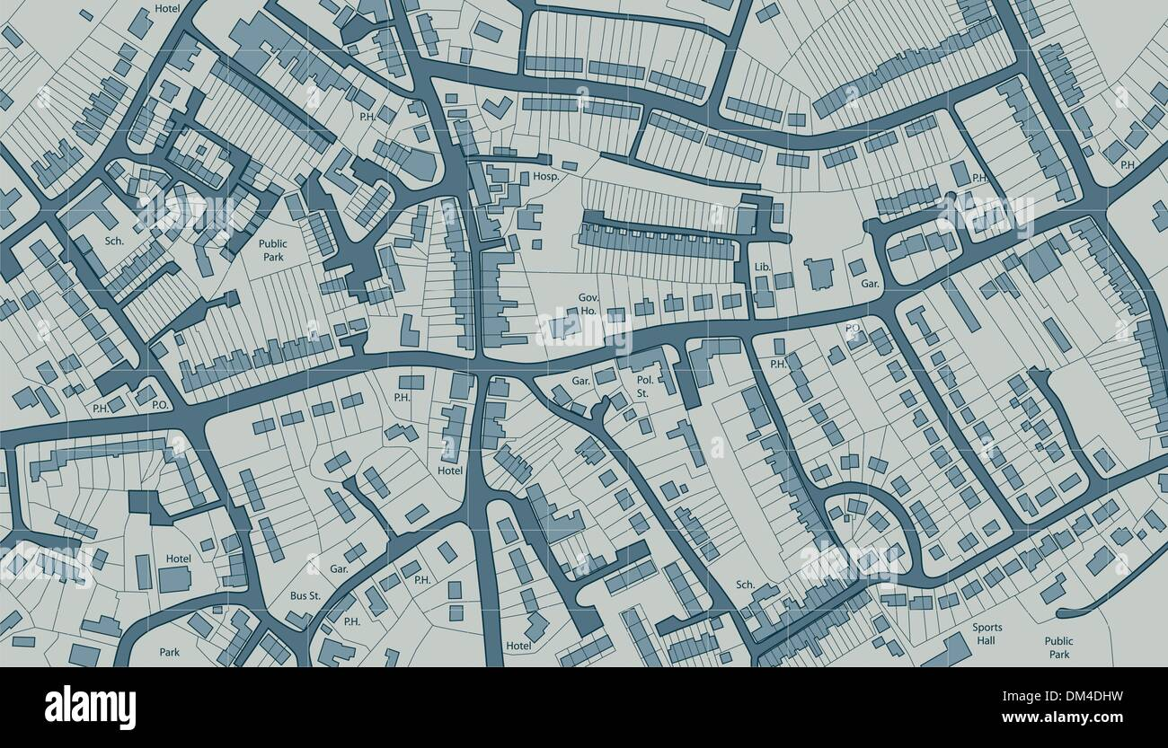 Housing map - Stock Image