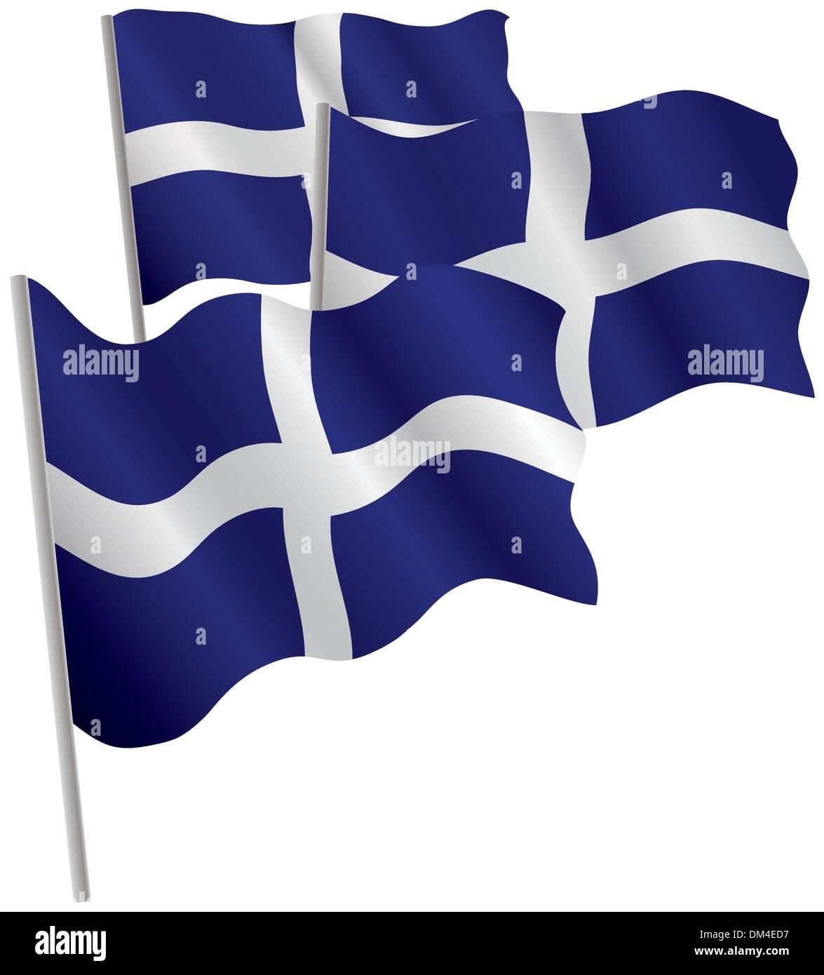 Greece 3d flag. - Stock Image