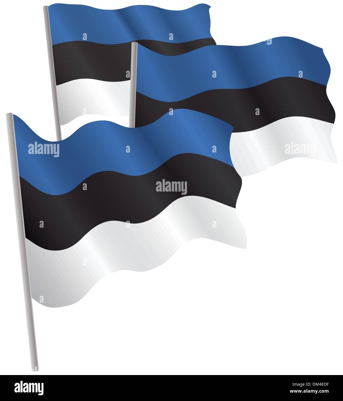 Estonia 3d flag. - Stock Image