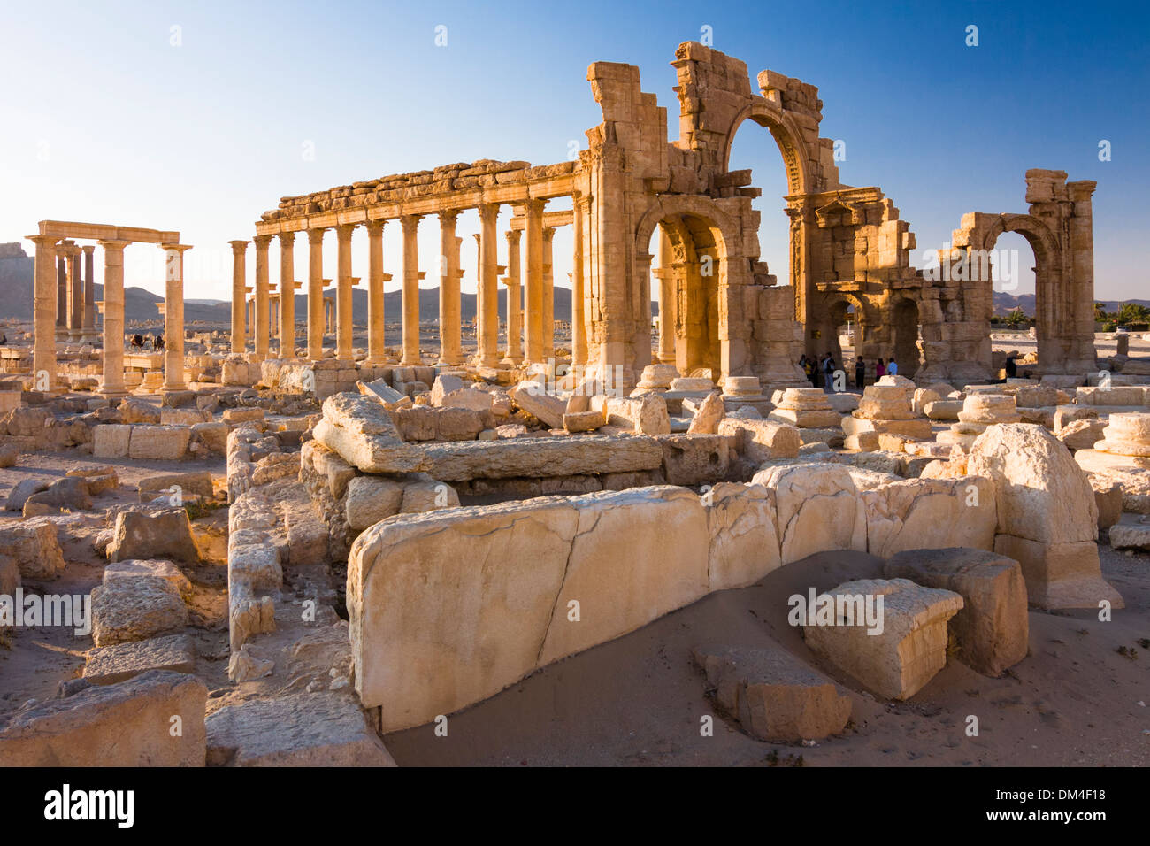Monumental Arch of the ruins at Palmyra, Syria - Stock Image