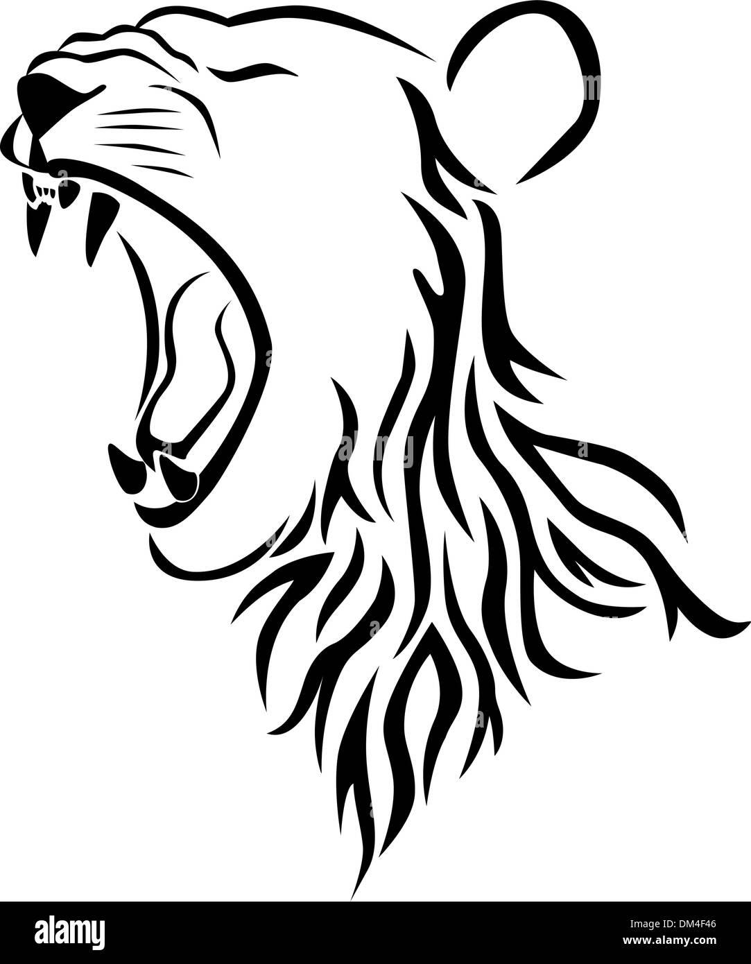 Vector Lion Head Tattoo Stock Vector Image Art Alamy