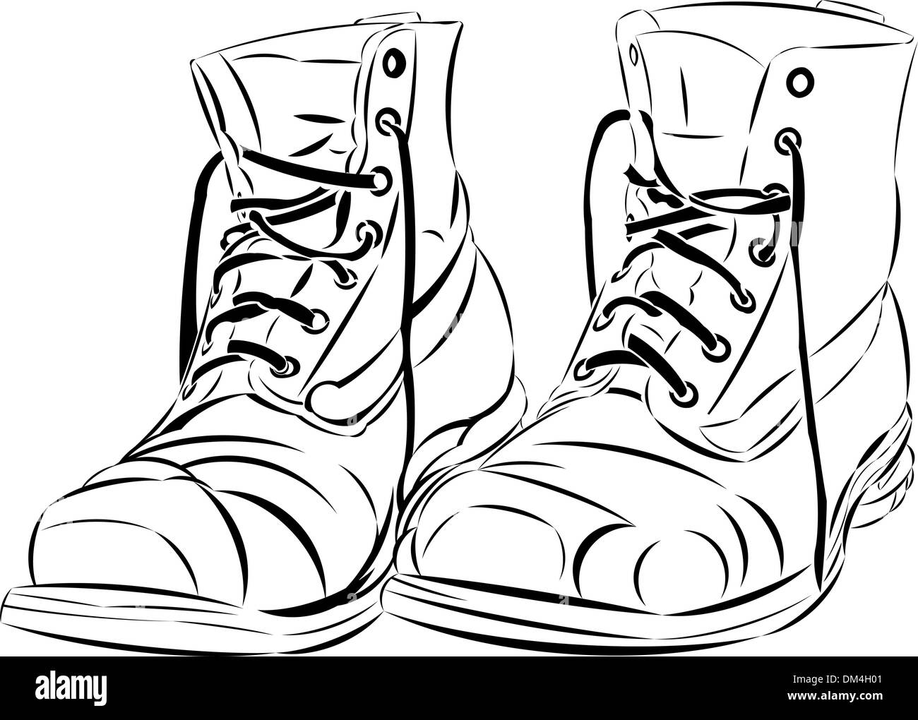 Walking Shoes Vector Vectors Stock Photos & Walking Shoes Vector ...