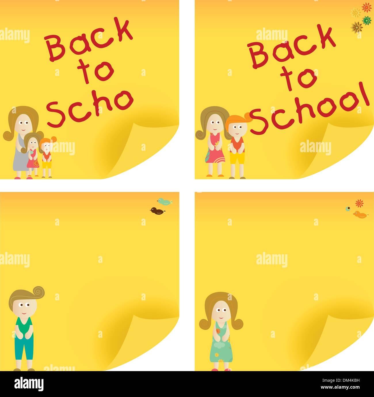 Back to School Sticky Note - Stock Image