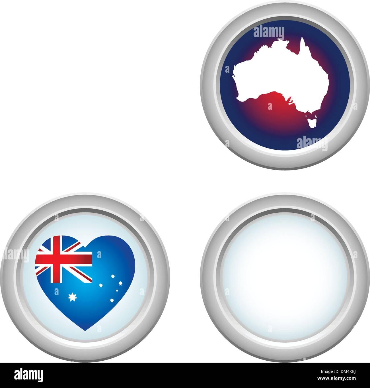 Australia Buttons - Stock Image