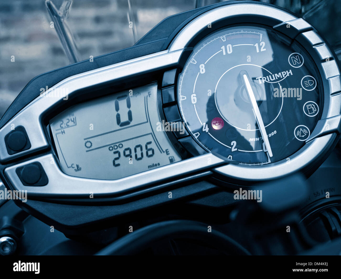 Motorcycle Instrument Panel : Instrument cluster on a triumph tiger abs motorcycle