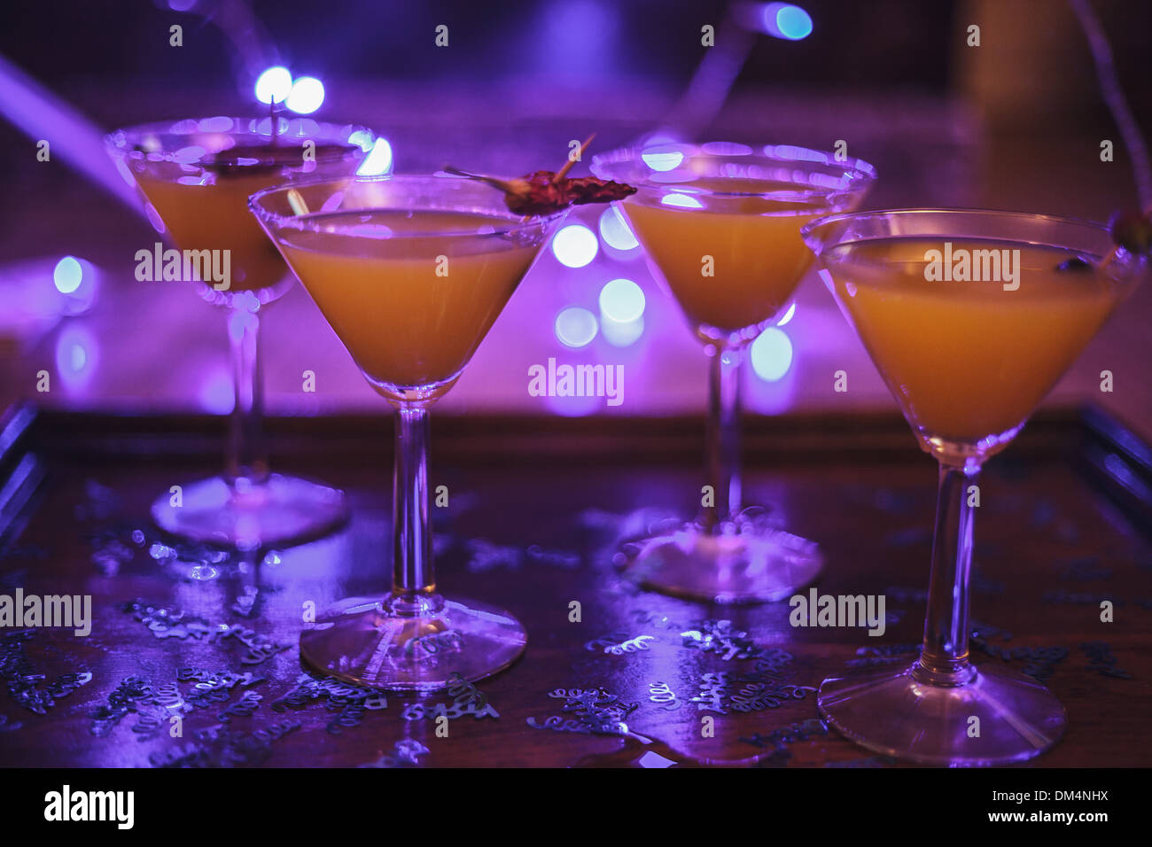 Festive cocktails. - Stock Image