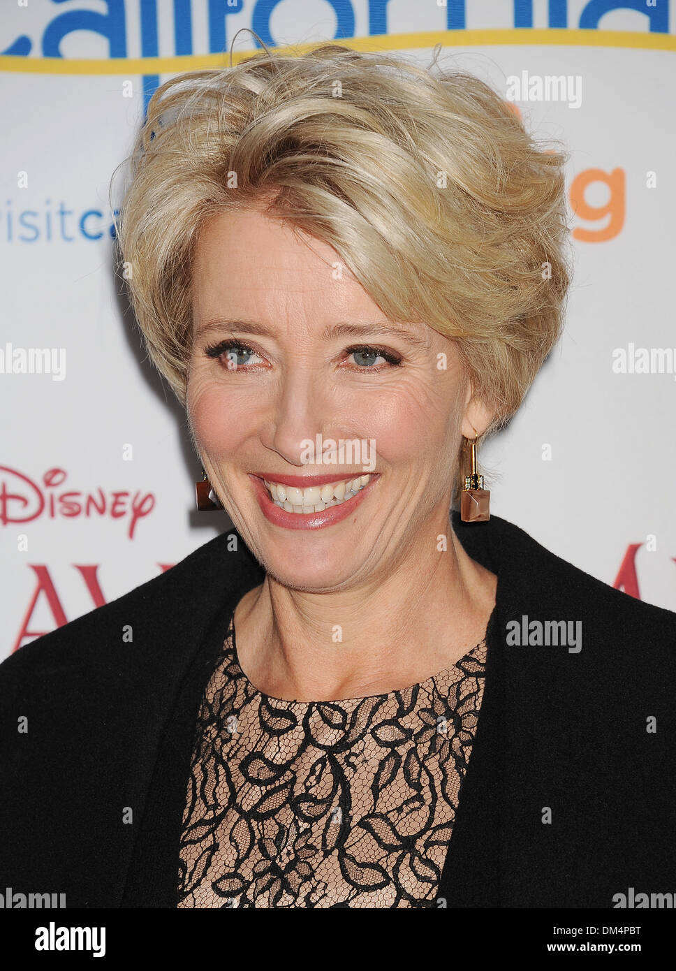 EMMA THOMPSON  English film actress in December 2013. Photo Jeffrey Mayer - Stock Image