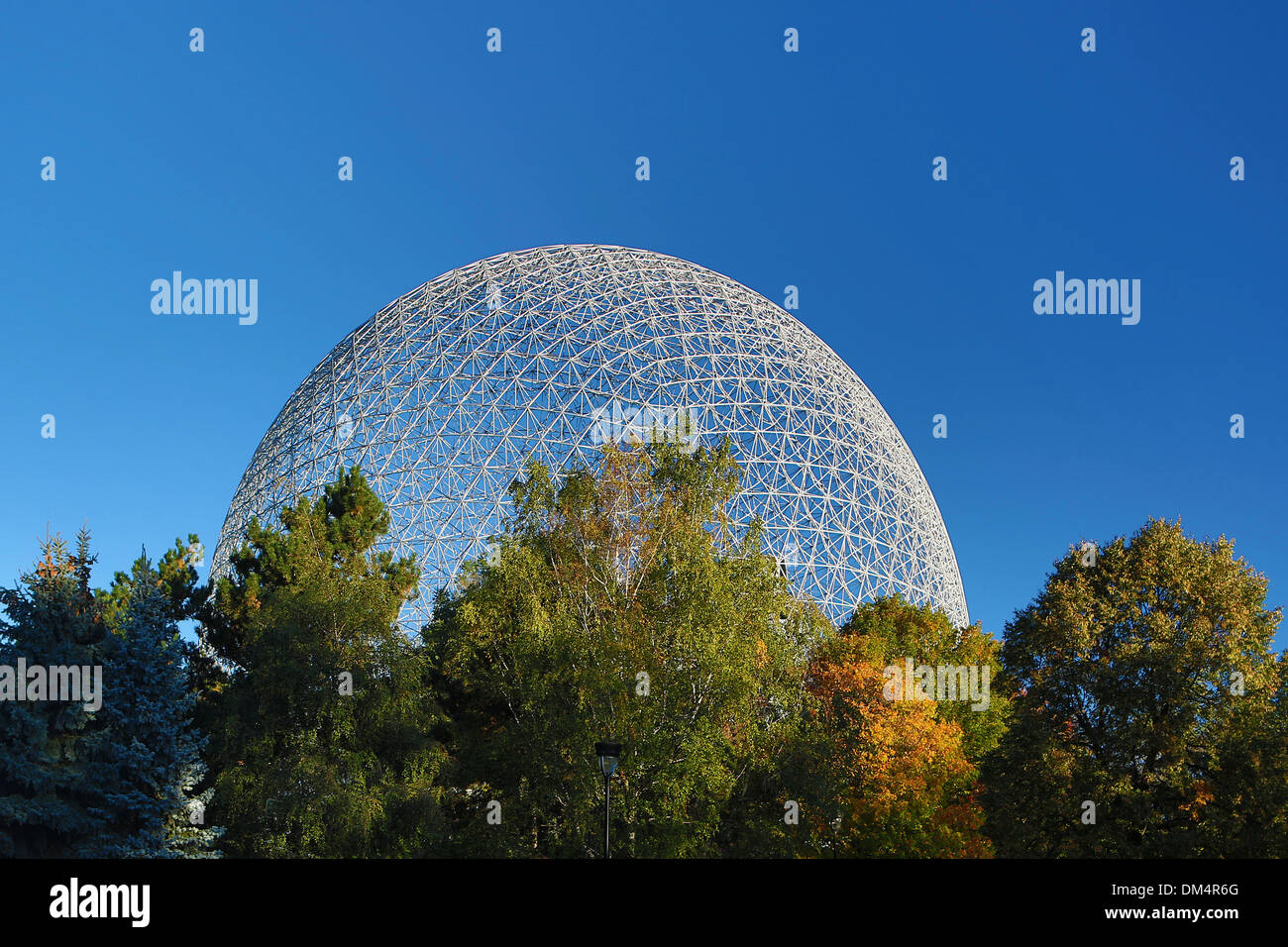 Biosphere, Canada, North America, Environmental, Montreal City, Quebec, architecture, city, museum, travel, Biosphere, round - Stock Image