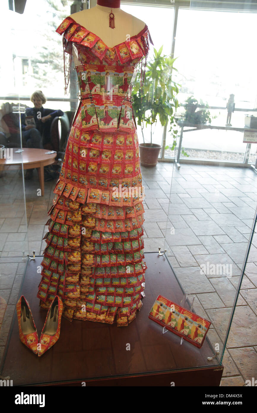 Artwork At The Celestial Seasonings Factory In Colorado The Dress