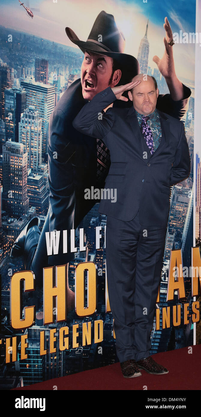 London, UK, 11th December 2013 David Koechner attends premiere for Anchorman: The Legend Continues, sequel to comedy following San Diego's favourite news anchor Ron Burgundy at Vue West End, Leicester Square, London Photo: MRP/Alamy Live News - Stock Image