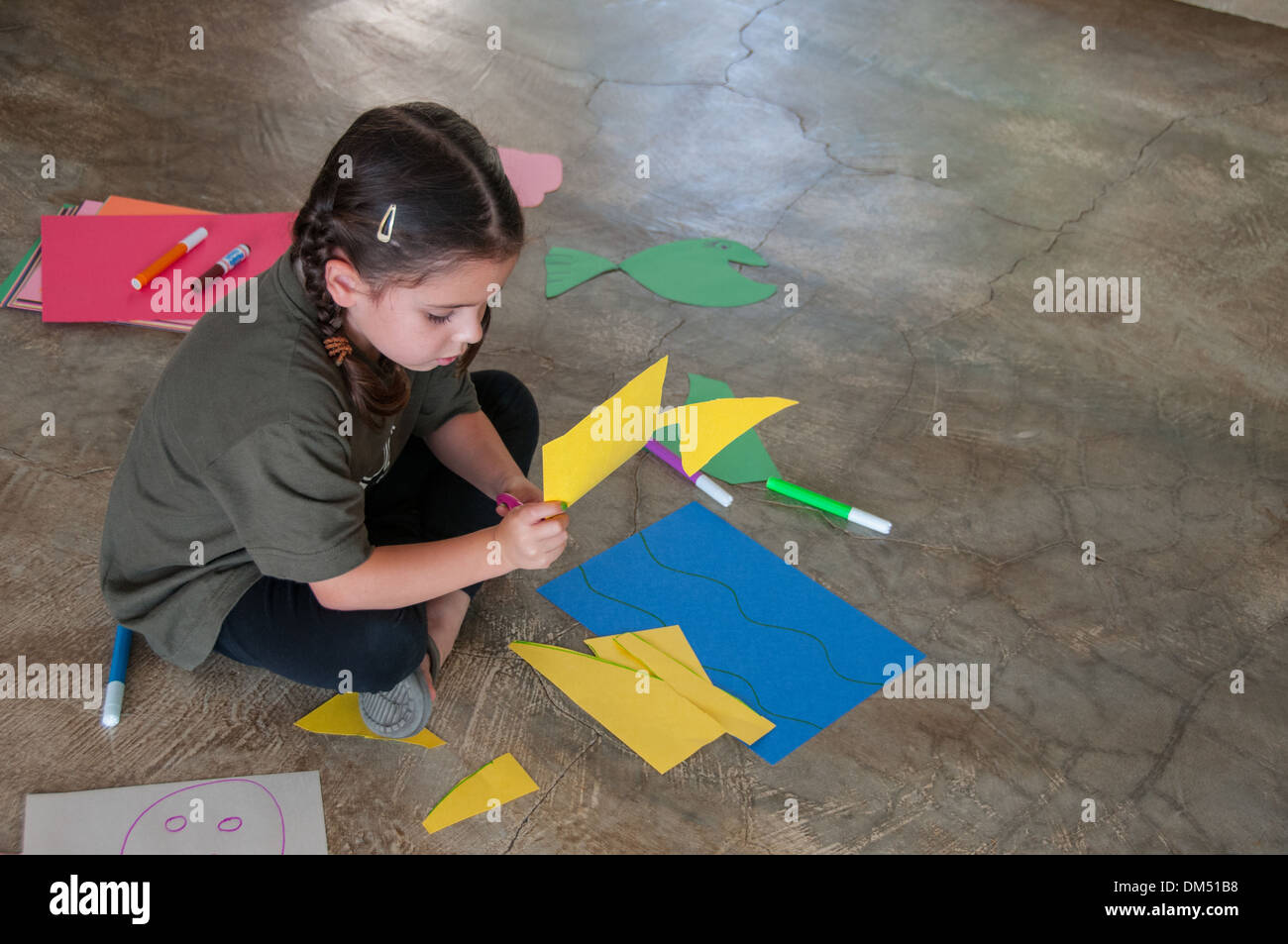 Girl and crafts - Stock Image