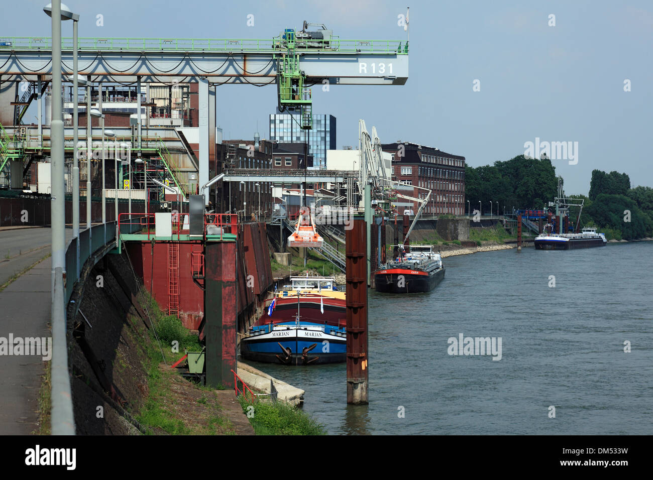 Germany Krefeld Rhine Lower Rhine Rhineland North Rhine-Westphalia Krefeld-Uerdingen Bayer AG work Uerdingen color factory - Stock Image