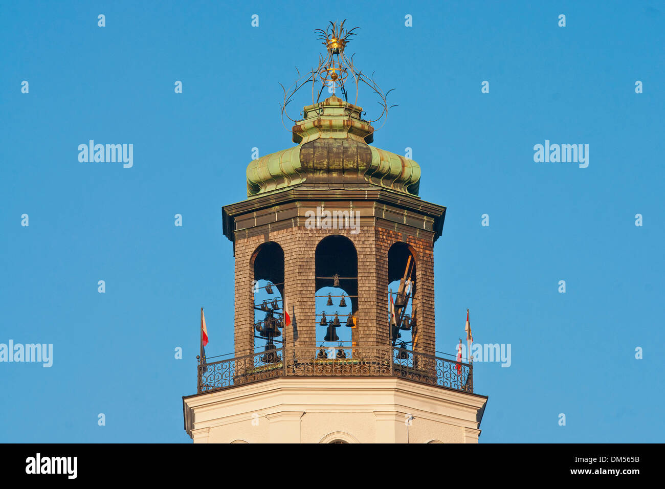 Austria, Salzburg, tower, carillon, chime, bells, art, culture, Old Town, town, city, - Stock Image