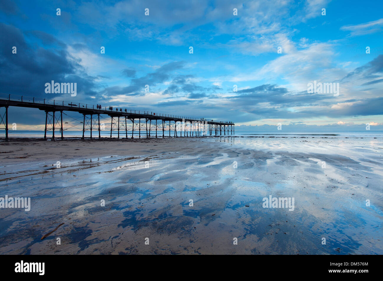 Pier at Saltburn, North Yorkshire - Stock Image