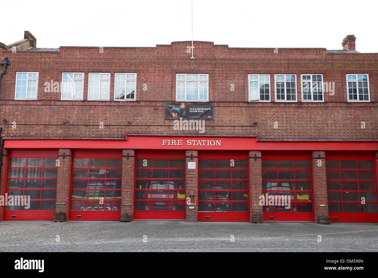 York Fire Station, Yorkshire - Stock Image