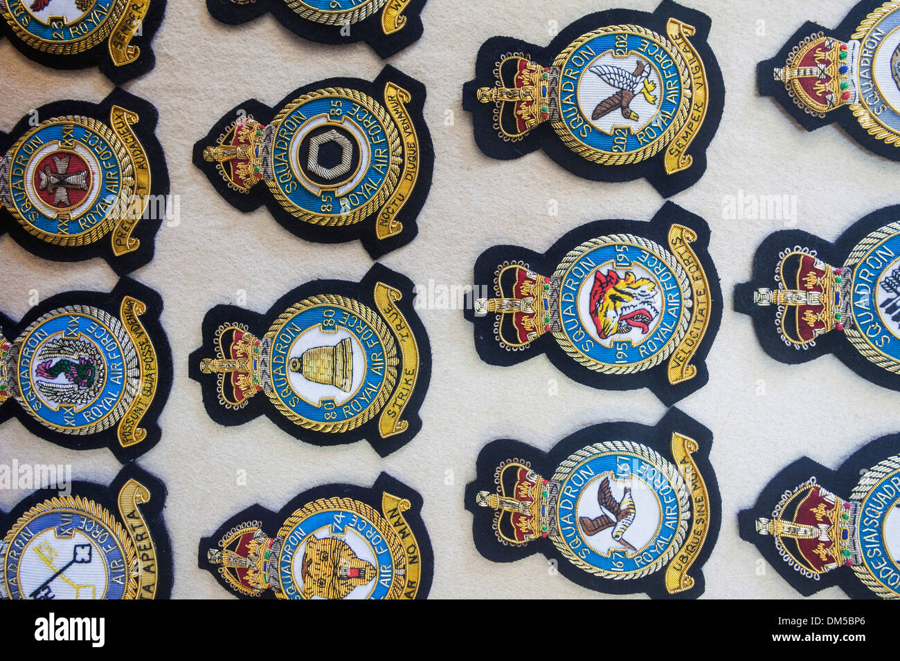 UK United Kingdom Europe Great Britain Britain England East Anglia Norfolk Norwich Norwich Aviation Museum Museum Museums Badge - Stock Image