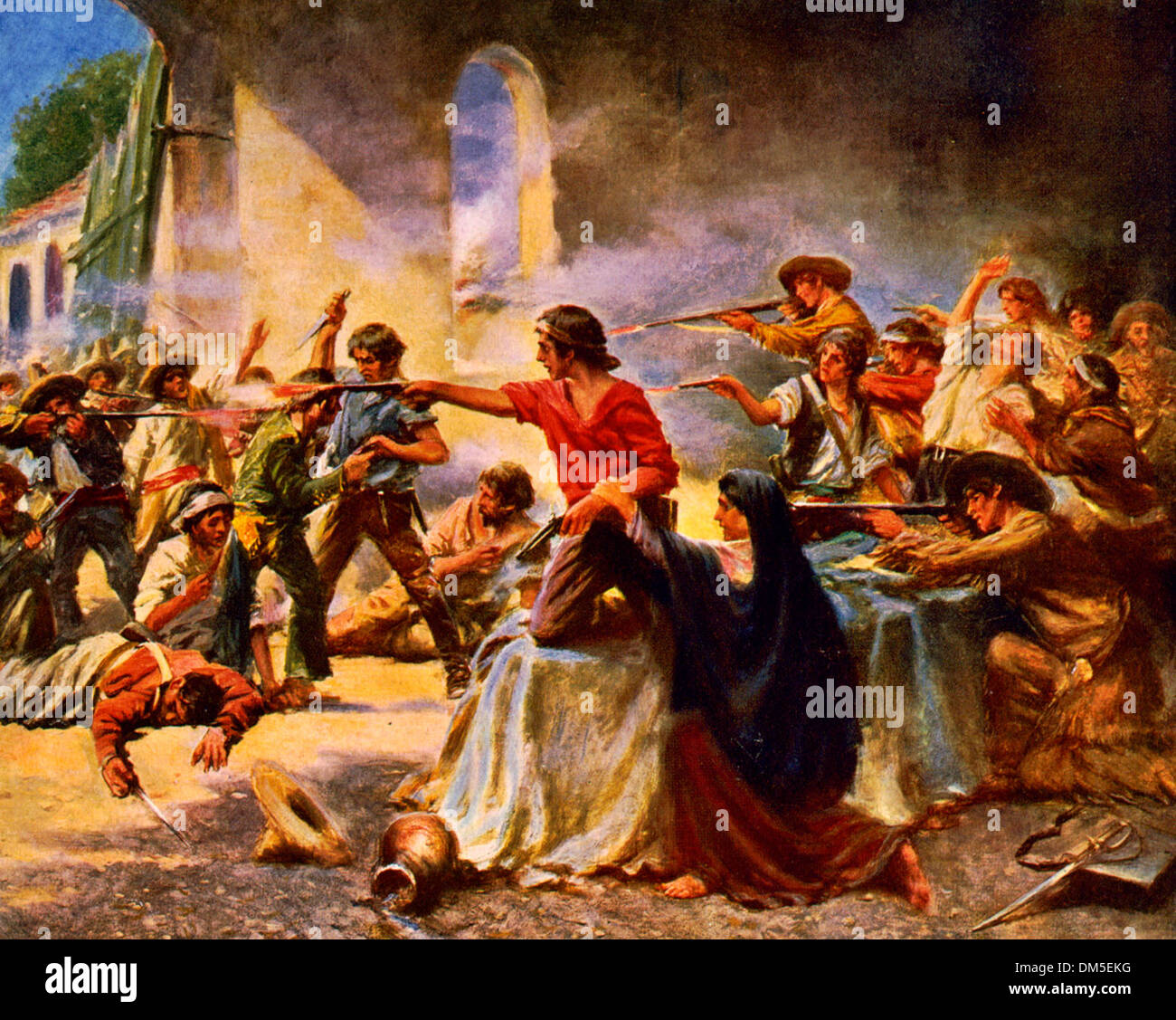 Battle of the Alamo, San Antonio, Texas, 1836 - Stock Image