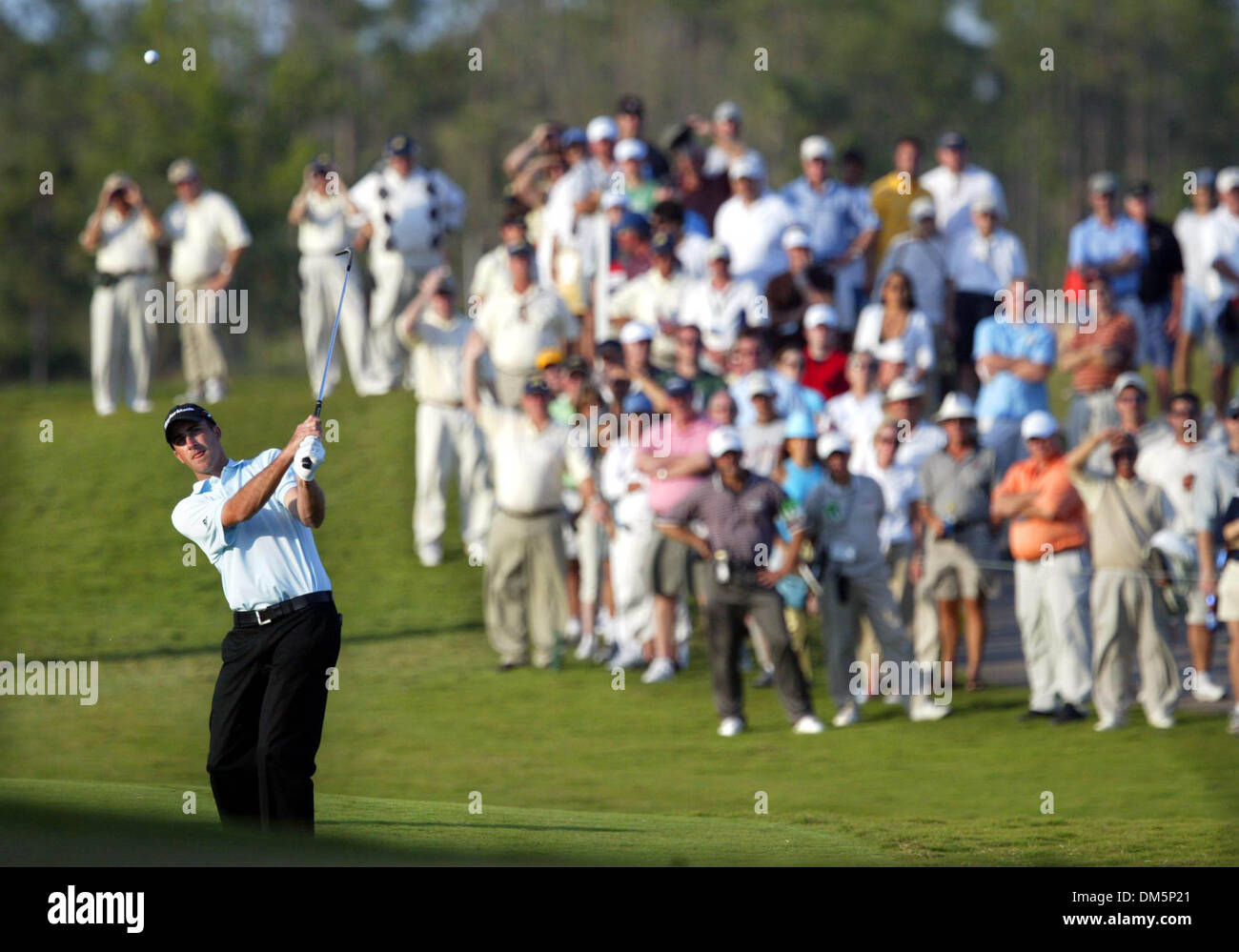 Mar 12, 2005; Palm Beach Gardens, FL, USA; The crowd watches GEOFF OGILVY on the 18th fairway at The Honda Classic Stock Photo