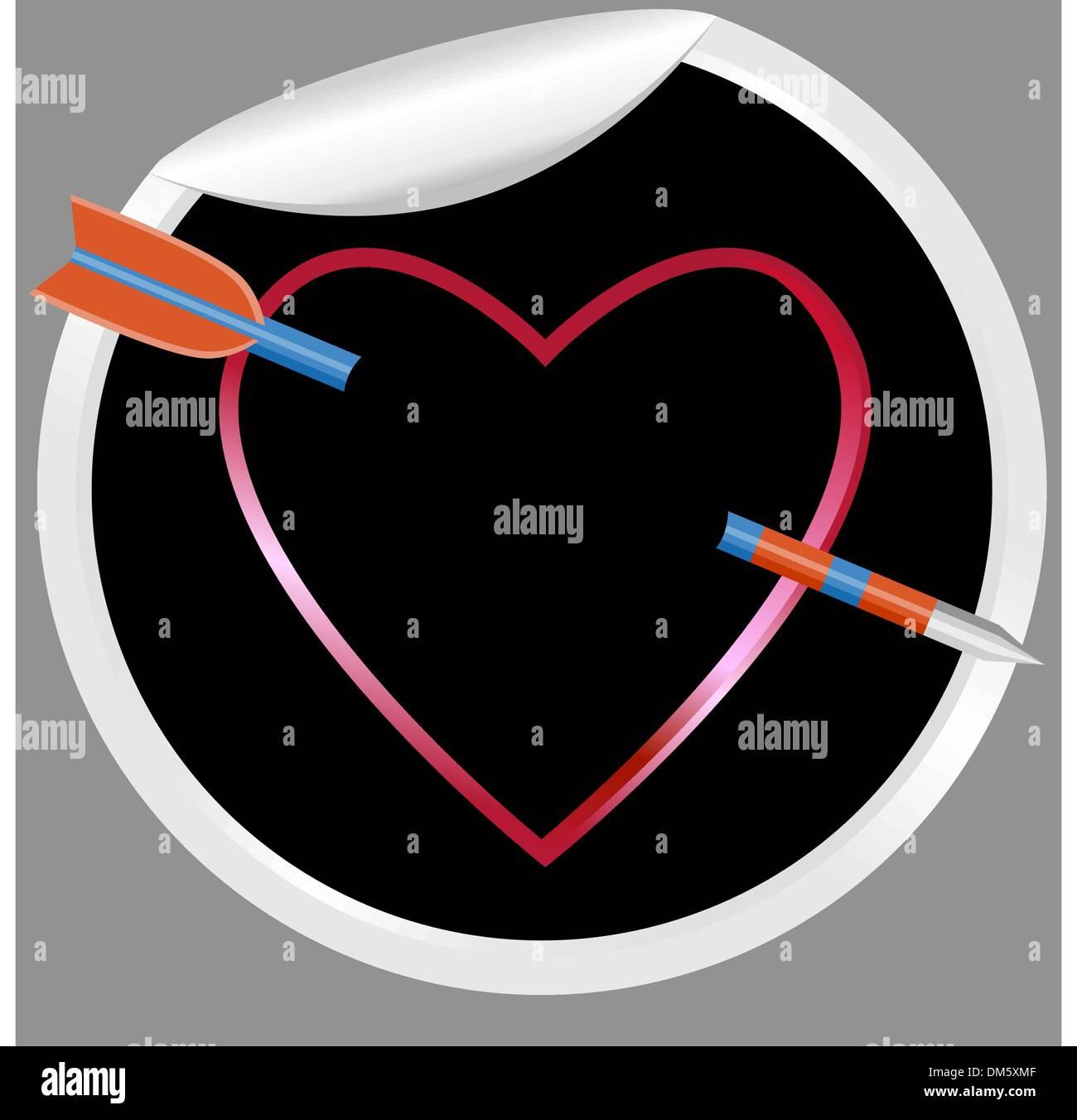Arrow in Heart Stock Vector