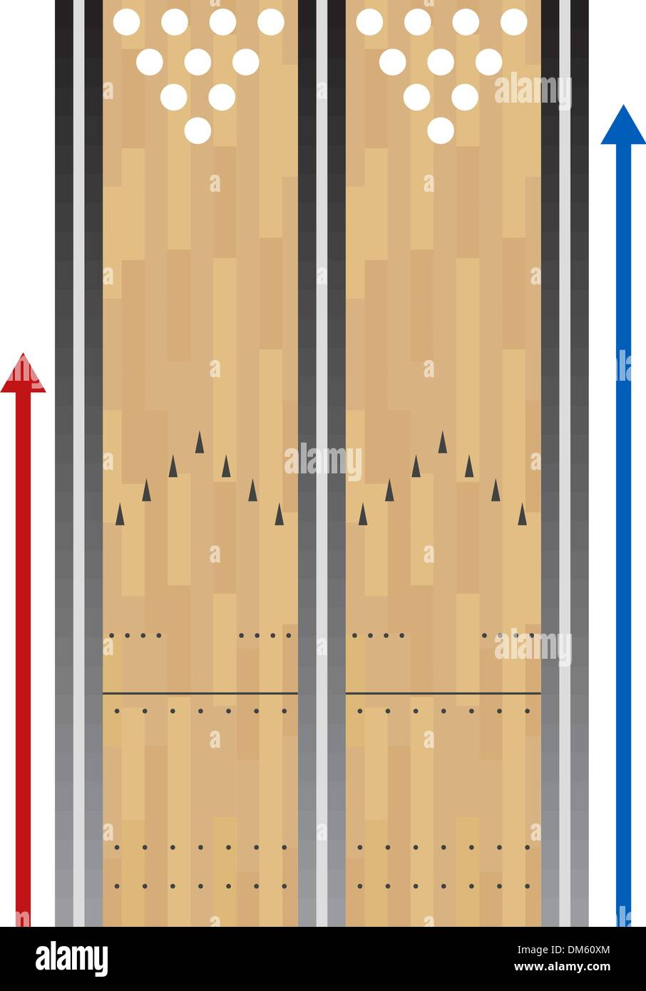 bowling lane chart DM60XM bowling lane stock vector images alamy