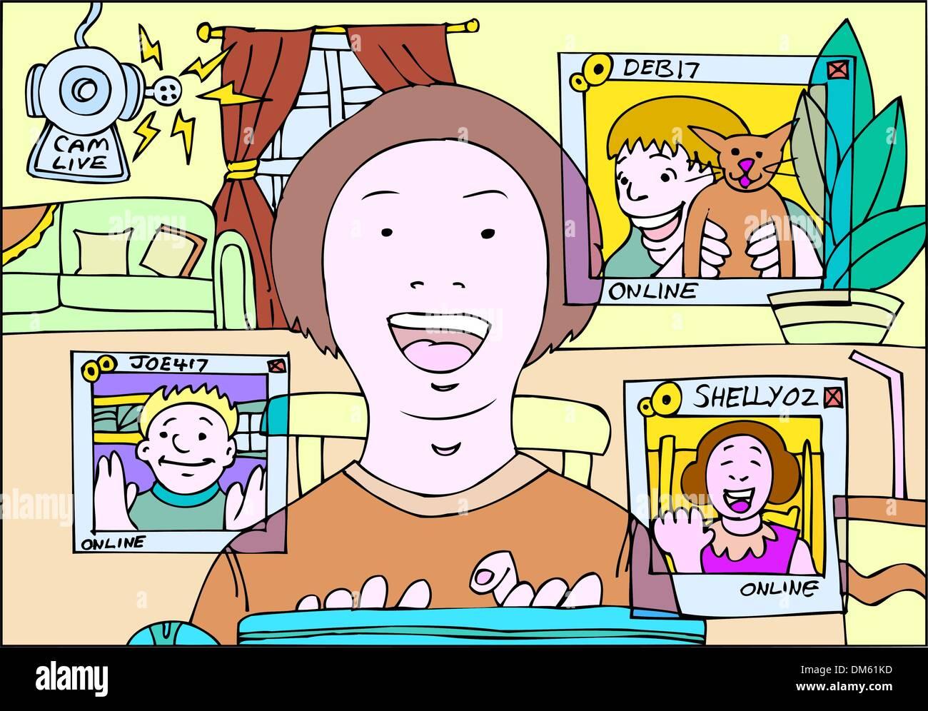 Online webcam room