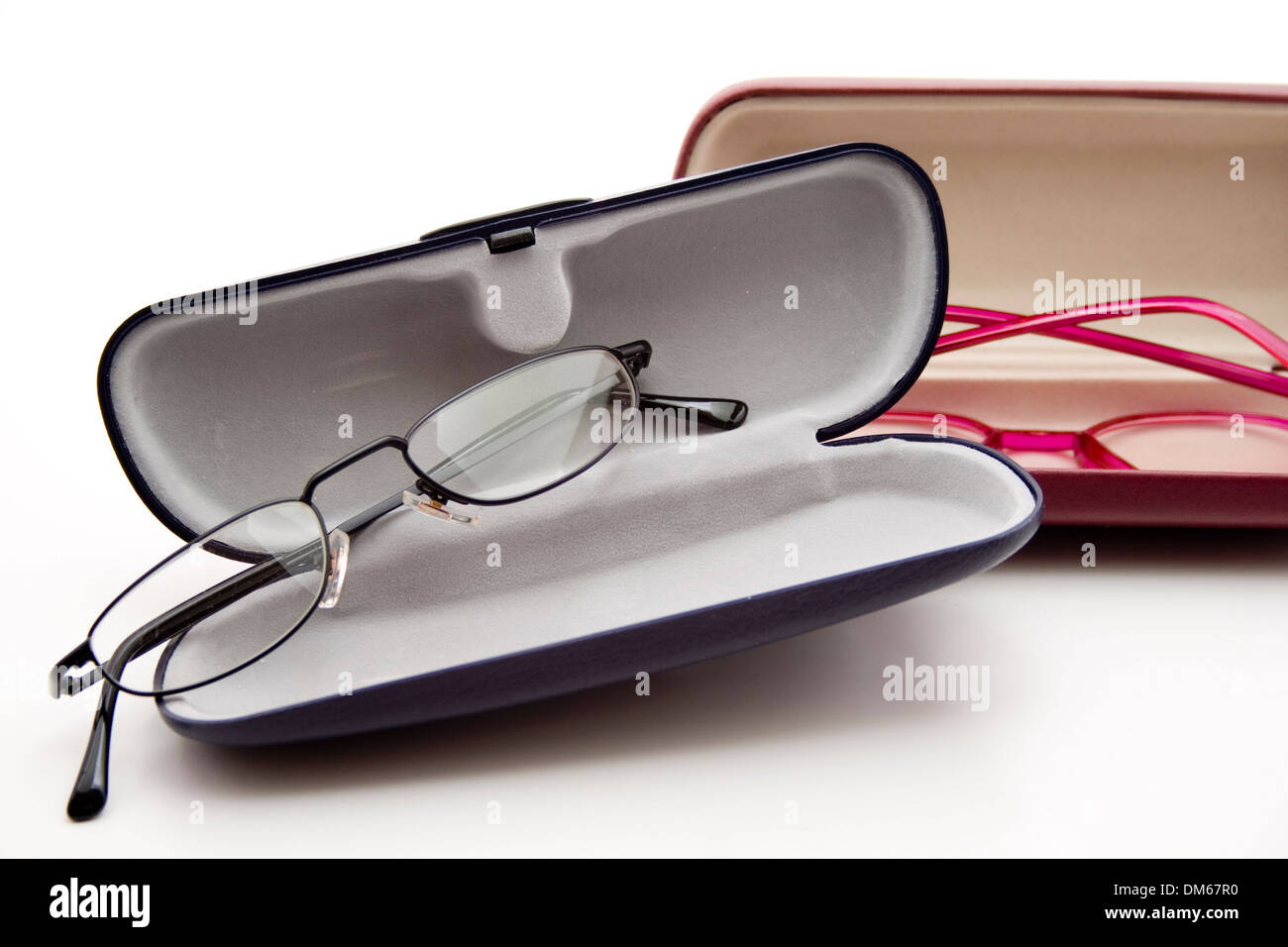 Glasses with case - Stock Image