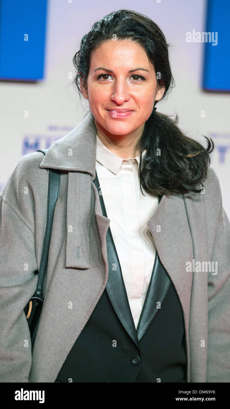 Berlin, Germany. 11th Dec, 2013. Minu Barati-Fischer poses on the red carpet for the German premiere of the movie 'The Secret Life of Walter Mitty' at Zoopalast in Berlin, Germany, 11 December 2013. The movie opens in German cinemas on 01 January 2014. Photo: HANNIBAL/dpa/Alamy Live News - Stock Image
