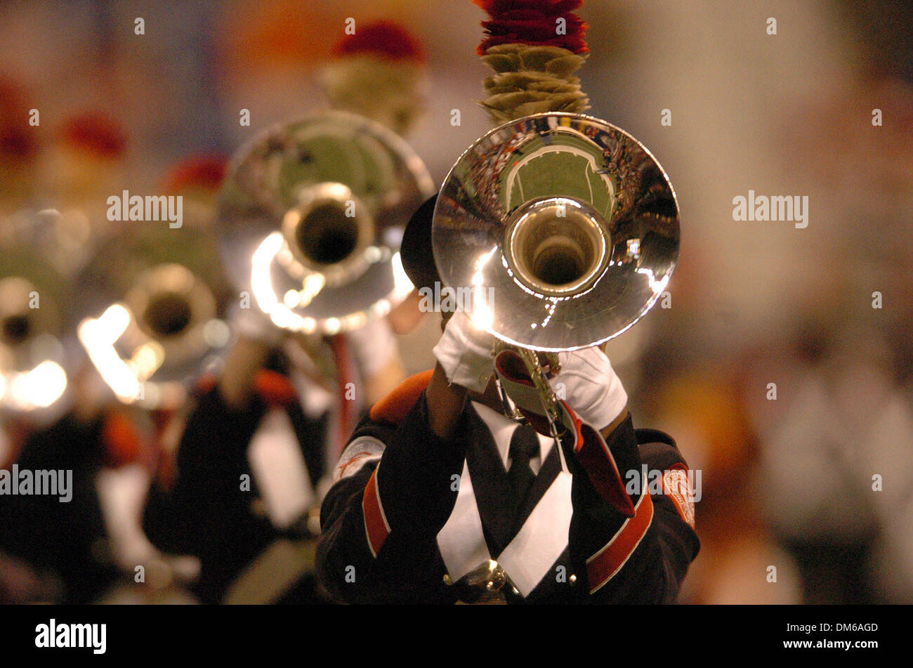 Dec 29, 2004; San Antonio, TX, USA; NCAA Football - Ohio State band plays before the start of the 2004 MasterCard Alamo Bowl at the Alamo dome in San Antonio. - Stock Image