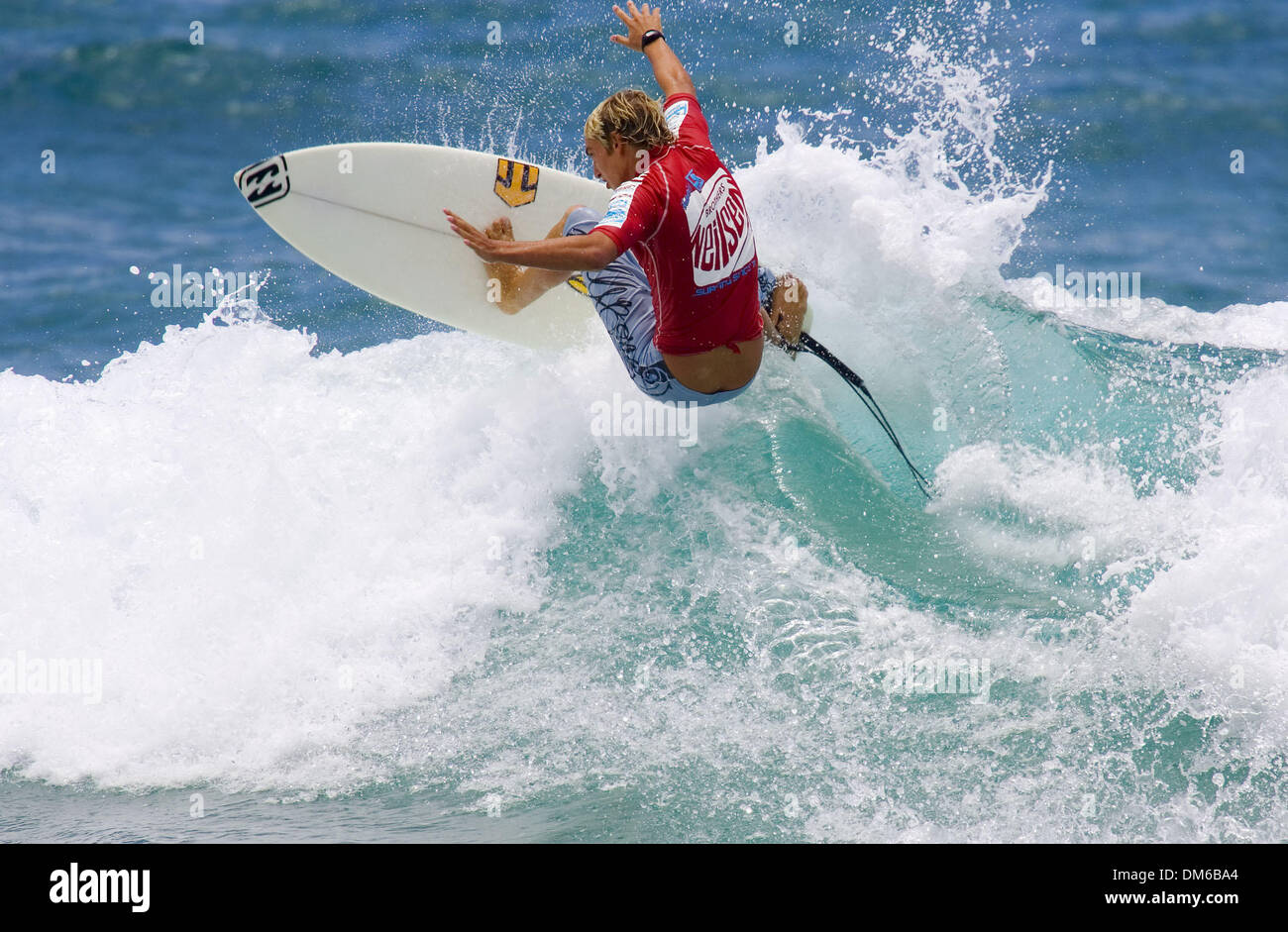 Jan 23, 2005; Duranbah, QLD, Australia; Australian SAM PAGE (Sydney) placed second to Jeremy Flores (REU) in the round of 48 surfers at the Brothers Neilsen Pro Junior at Duranbah on AustraliaÕs Gold Coast today. Page advanced to the round of 24 where he will face James Woods (NSW, Aus), Yadi Nicol (WA) and Shaun Harrington (QLD, Aus). - Stock Image