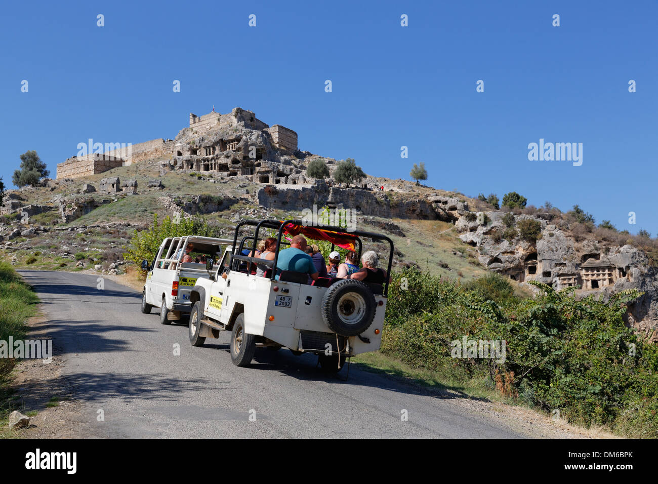 Jeep safari, ancient city of Tlos in the Xanthos Valley, Muğla Province, Lycia, Aegean, Turkey - Stock Image