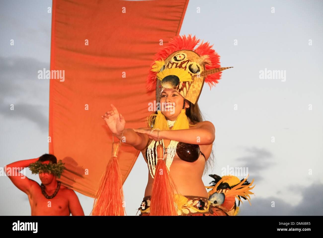 Hula dancers, Maui, Hawaii, USA Stock Photo