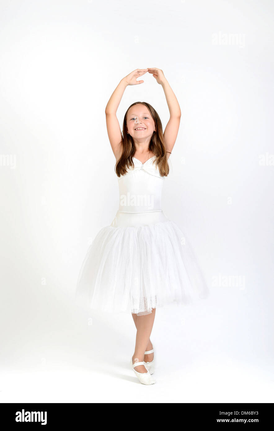 Young ballerina wearing a tutu Stock Photo
