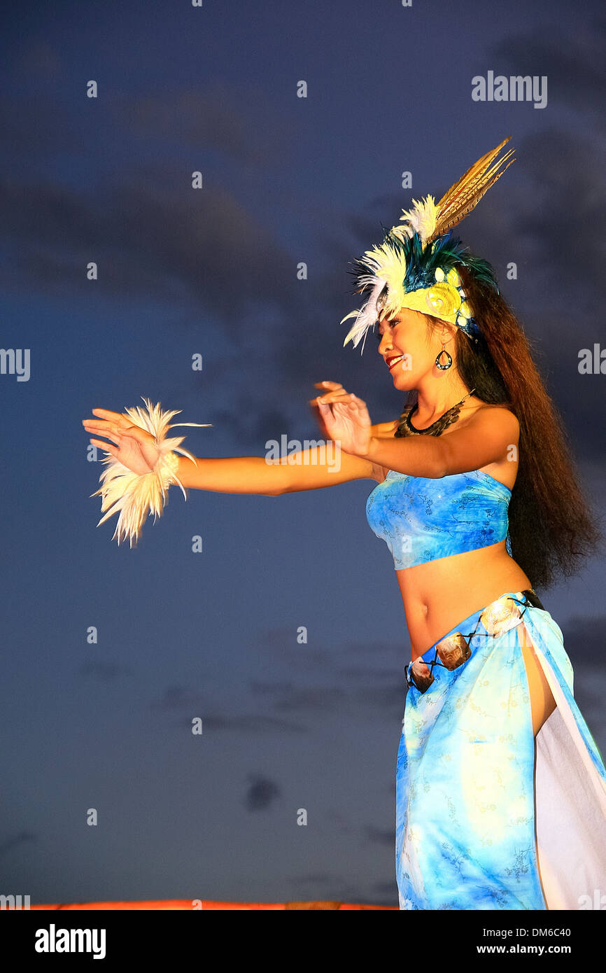 Hula dancer, Maui, Hawaii, USA Stock Photo