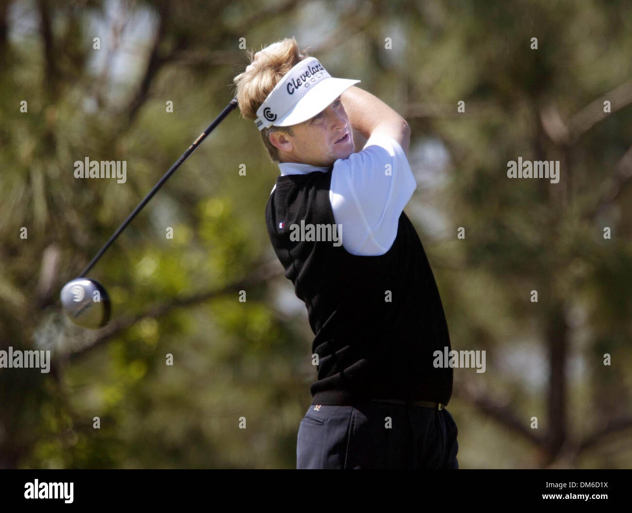 Mar 10, 2005; Palm Beach, FL, USA;  DAVUD TINS tees off on the front nine Thursday at The Honda Classic at Mirasol Stock Photo