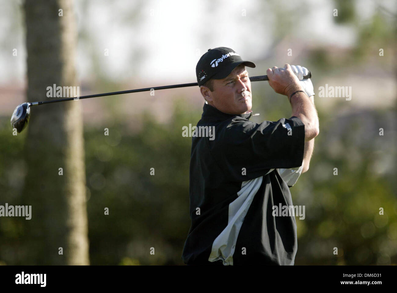 Mar 10, 2005; Palm Beach, FL, USA; TODD HAMILTON on the 17th hole Thursday at The Honda Classic at Mirasol in Palm Stock Photo