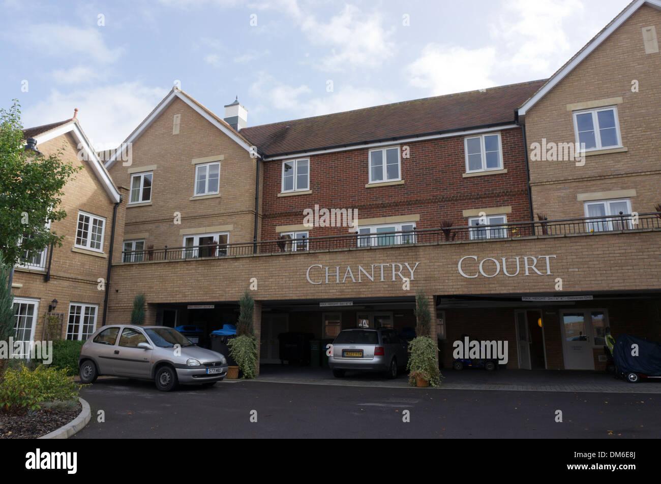 Chantry Court Retirement Village In Westbury, Wiltshire.   Stock Image