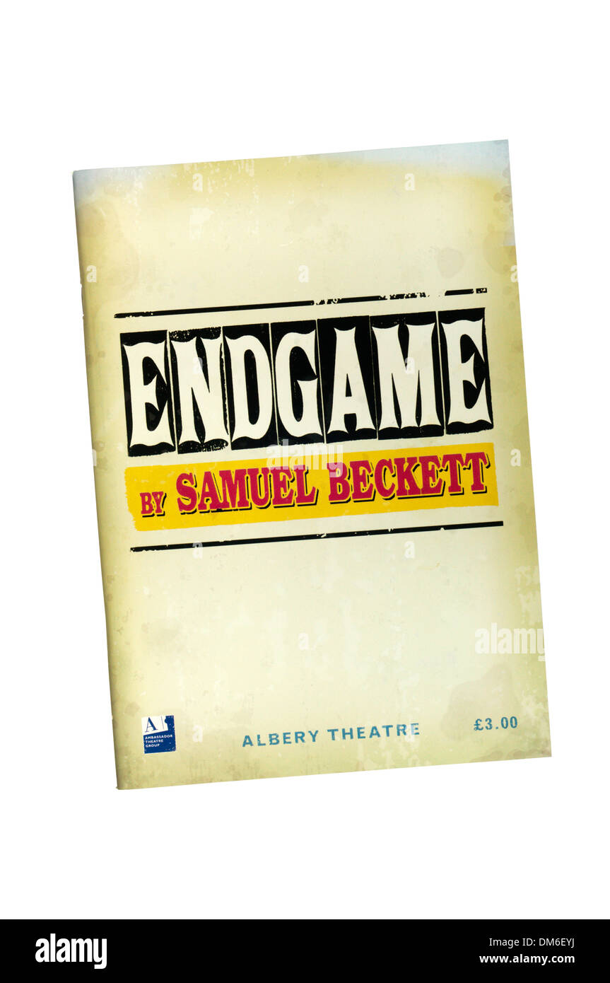 Programme for the 2004 production of Endgame by Samuel Beckett at the Albery Theatre. - Stock Image