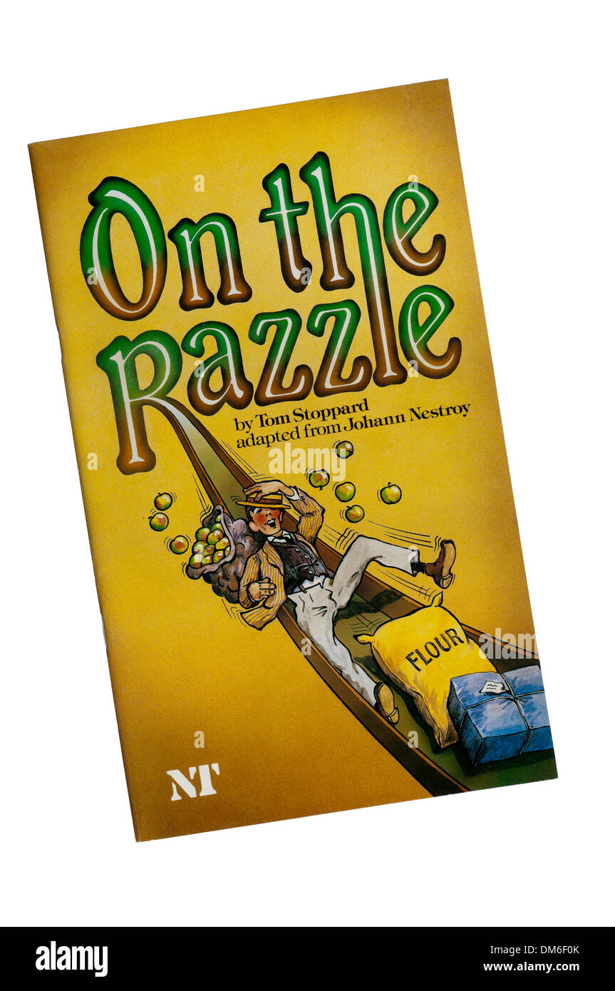 Programme for the 1981 production of On The Razzle by Tom Stoppard, adapted from Johann Nestroy, at the Lyttelton Theatre. - Stock Image