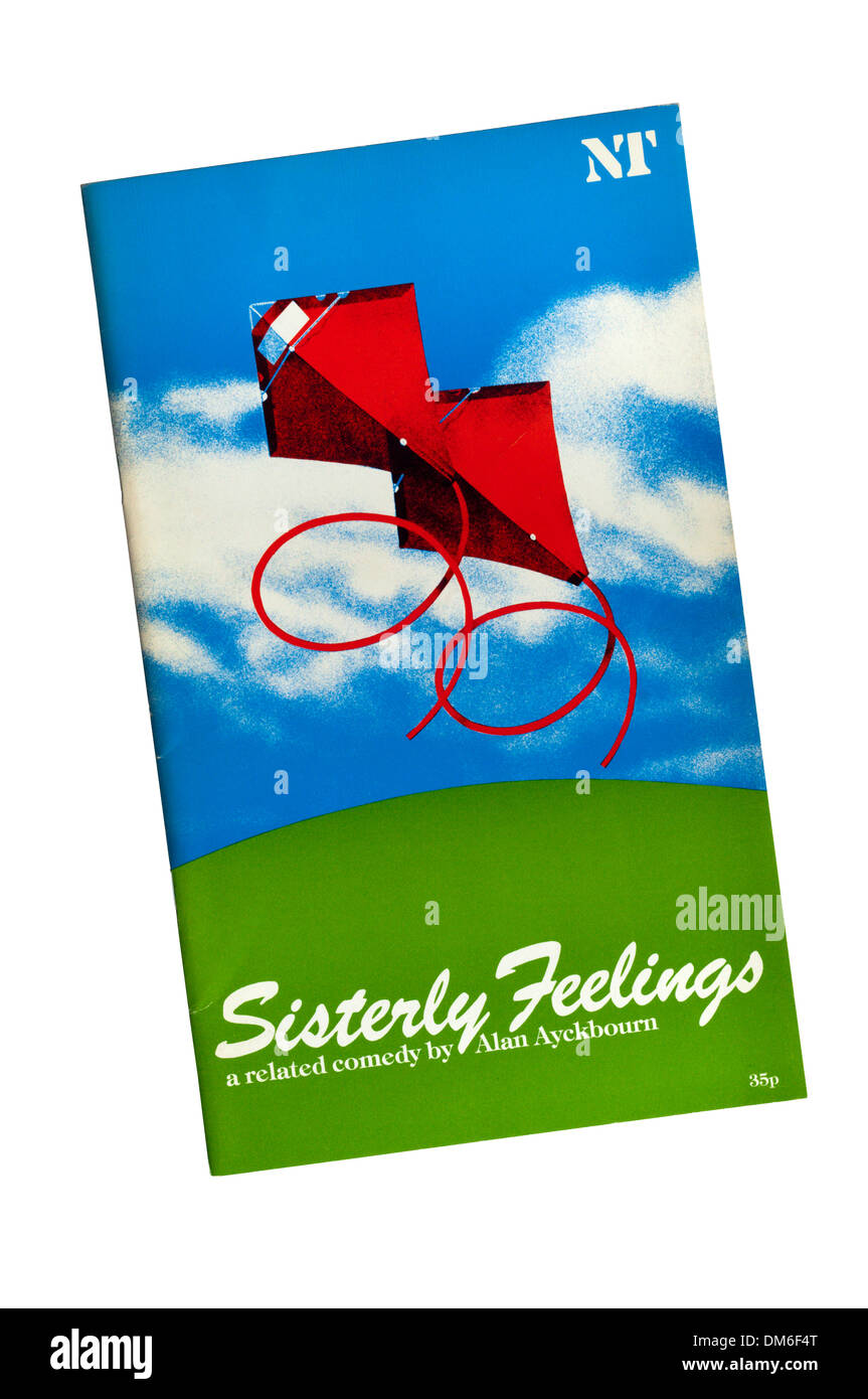 Programme for the 1980 production of Sisterly Feelings by Alan Ayckbourn at the Olivier Theatre. - Stock Image