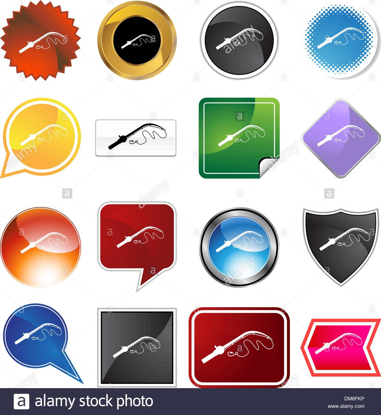 Fishing Pole Stock Vector Images - Alamy