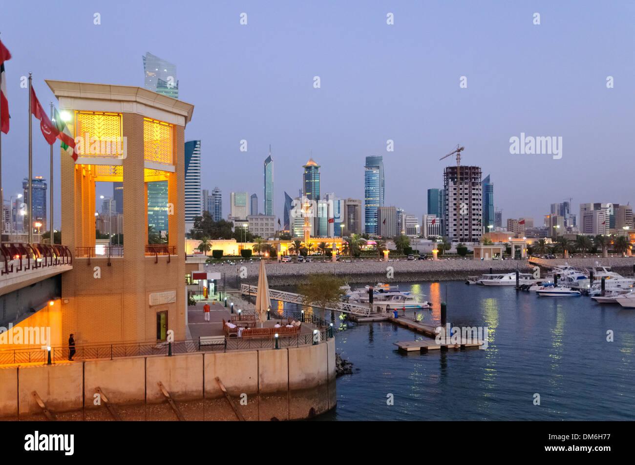 Sultan Mall with marina, Kuwait, Arabian pensinula, Western Asia - Stock Image