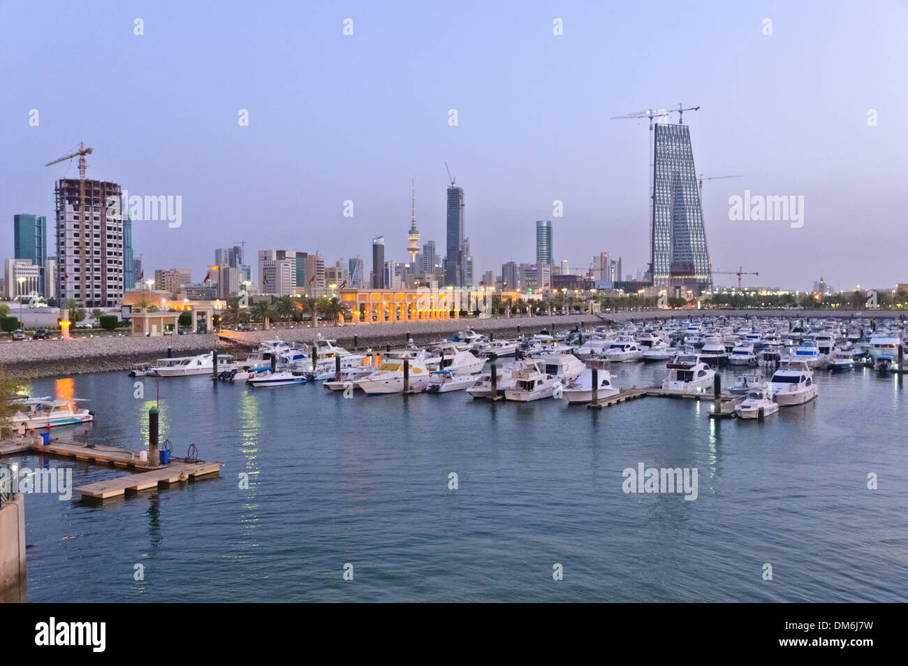Sultan Mall with marina, Kuwait, Arabian pensinula, Western Asia Stock Photo