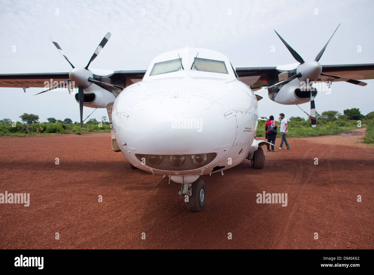 Humanitarian airs ervice (UNHAS) in central african republic - Stock Image