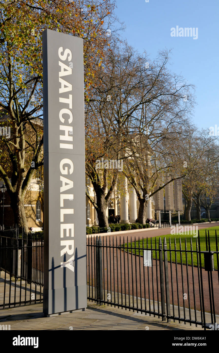 London, England, UK. Saatchi Gallery in the Duke of York's HQ building, King's Road. - Stock Image