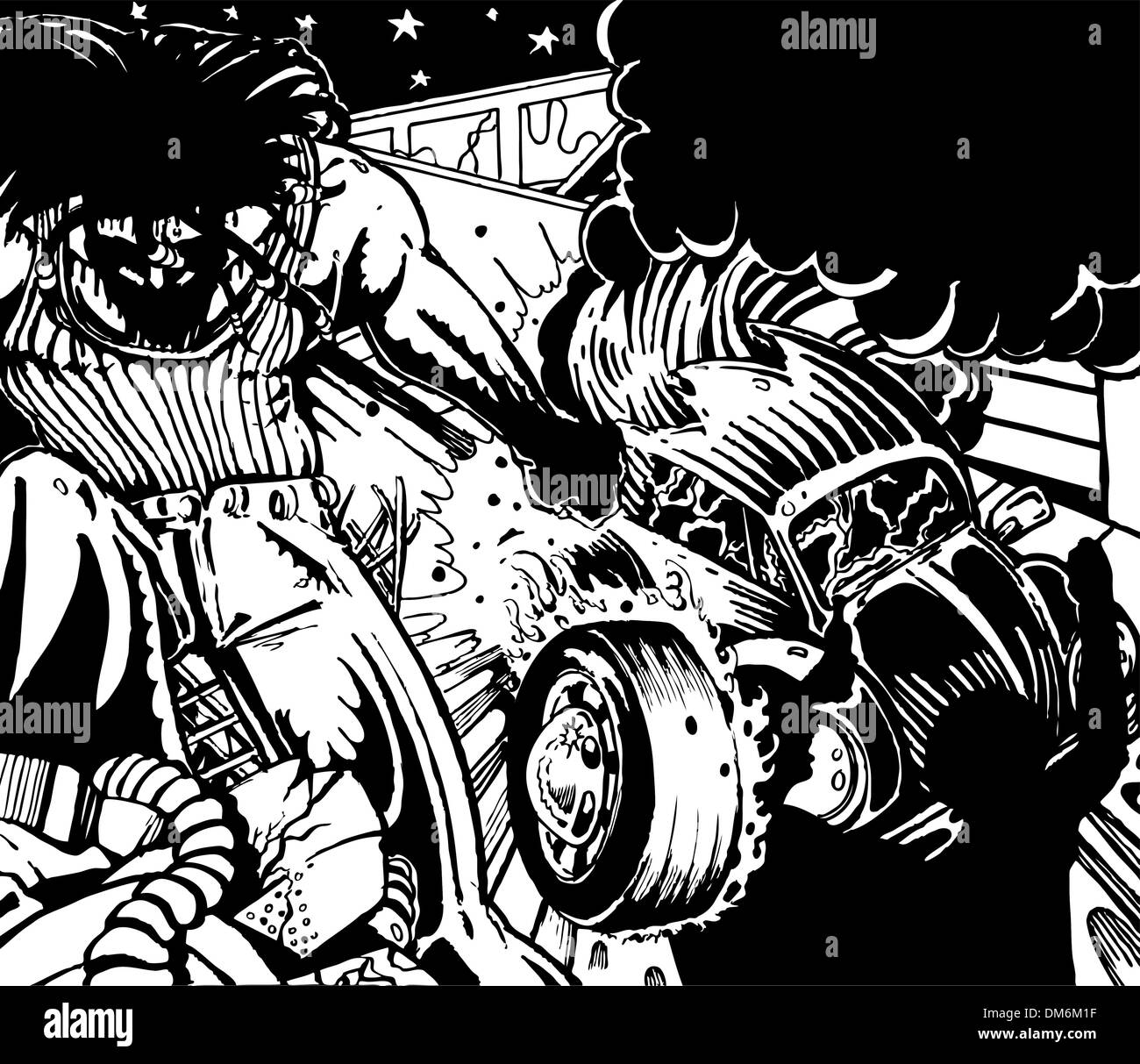 Street Riot - Stock Vector